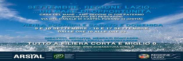 Settembre Regione Lazio… un mare di opportunità