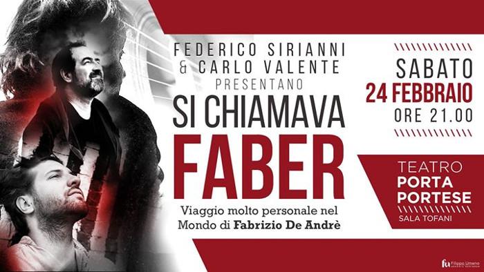 Si chiamava Faber - Viaggio molto personale nel mondo di Fabrizio De André.